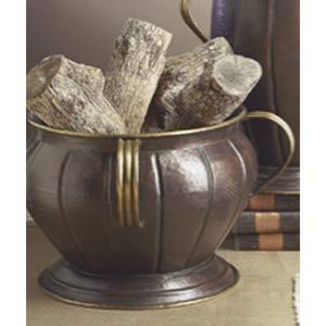 Antique Copper Planter with Antique Brass Trim