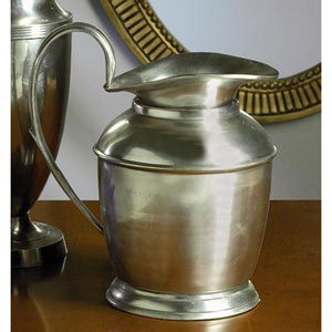 Antique Silver Decorative Pitcher 10 Inches Tall