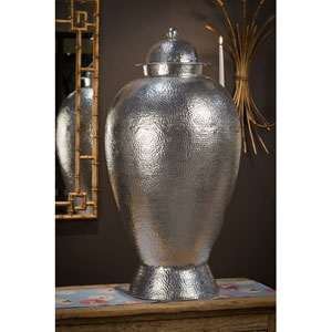 Nickel Hammered Temple Jar