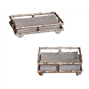 Nickel Square Napkin Tray