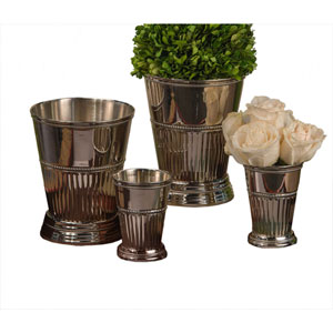 Nickel Small Fluted Mint Julep Cup