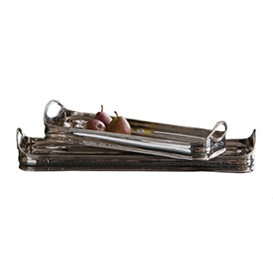Nickel 17-Inch Rectangular Gallery Tray