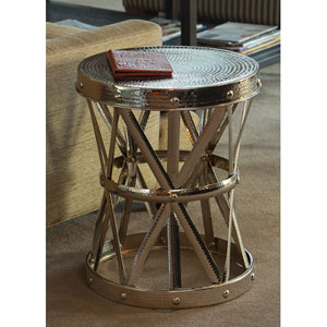 Nickel Garden Seat Accent Table