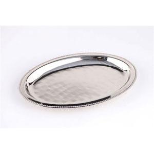 Nickel Oval Beaded Tray