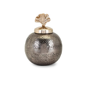 Luxe Small Vase with Ginkgo Lid