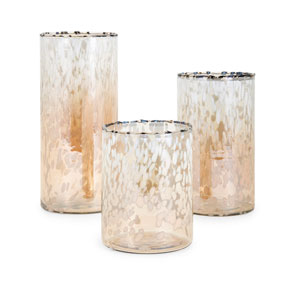 Luxe Glass Hurricanes, Set of 3