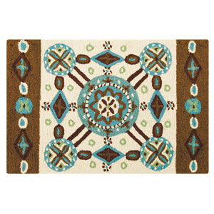 Kasbah Multicolor Rectangular: 2 Ft x 3 Ft Rug