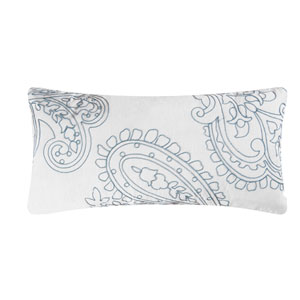 Aqua Paisley 12 x 24 In. Pillow
