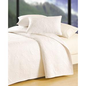White Shell Matelasse Twin Quilt