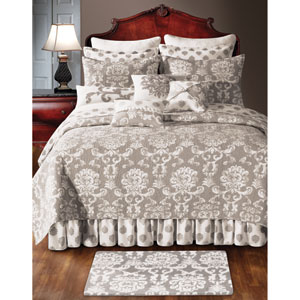 Providence Cream and Beige Twin Quilt