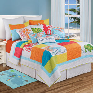 Tropic Escape Multicolor Twin Quilt