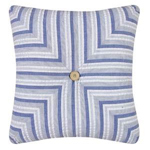 Nantucket Dream 14 x 14 Striped Quilt Pillow