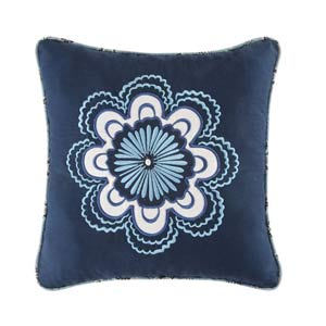 Chesapeake Bay 14 x 14 Embroidered Flower Pillow