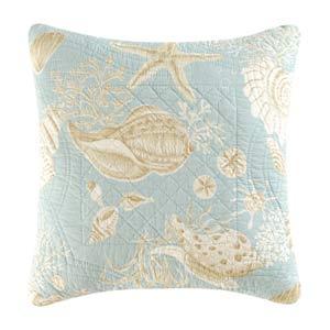 Natural Shells 14 x 14 Quilt Pillow