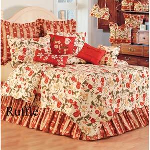 Red Carlisle 39 x 76 Twin Dust Ruffle