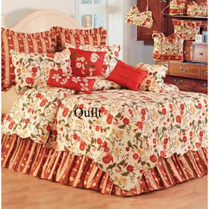 Red Carlisle 66 x 86 Twin Quilt