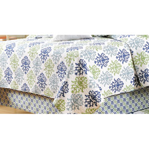 Shabby Chic Blue Queen Quilt