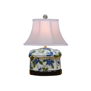 White 15-Inch Jar Table Lamp