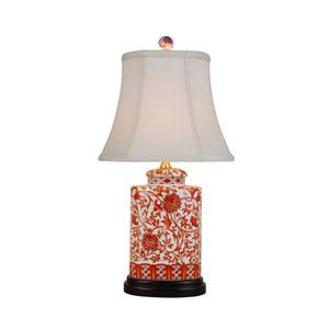White 21-Inch Jar Table Lamp