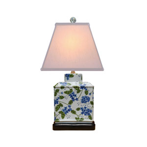 White 20-Inch Rectangle Jar Table Lamp