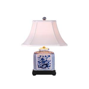 Blue and White Rectangular Jar Table Lamp