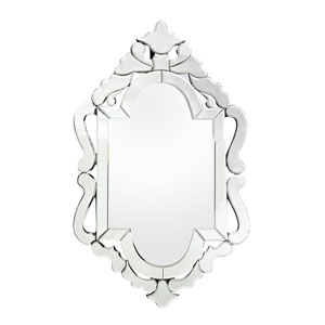 Tonbridge Clear 36-Inch Arched and Crowned Mirror