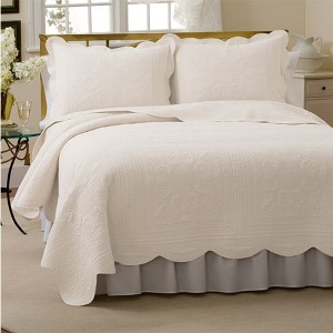 French Tile White Twin Quilt