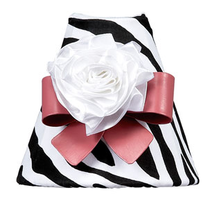 Zebra Print with Dark Pink Bow Magnet Nightlight