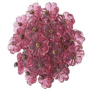 Flower Beads Pink Knob