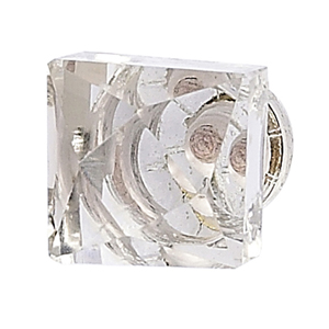 Square Faceted Clear Knob