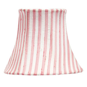 Pink and White Stripe Chandelier Shade