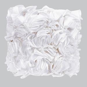 Rose Garden - White Chandelier Shade - Drum Shape