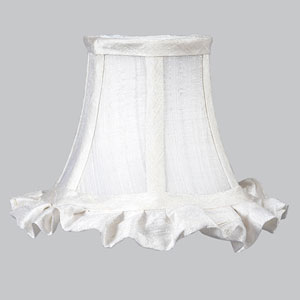 White Chandelier Shade - Ruffled Edge