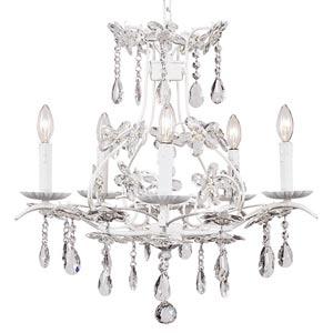 Cinderella White Five-Light Chandelier
