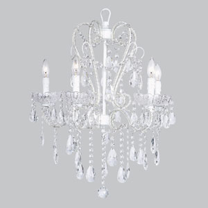 Carousel White Five-Light Chandelier