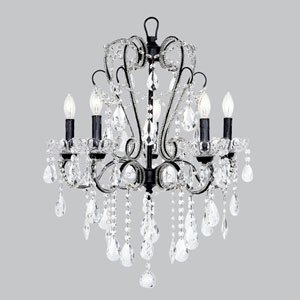 Carousel Black Five-Light Chandelier
