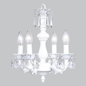 Fountain White Four-Light Mini Chandelier