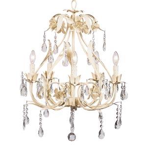 Ballroom Ivory Five-Light Chandelier