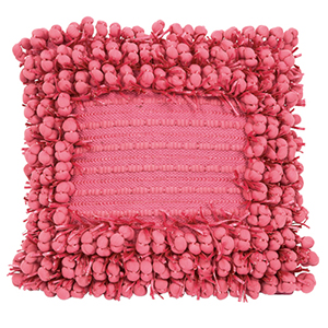 Funberry Square Pink 18 Inch Square Decorative Pillow
