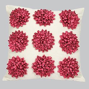 Dahlia Pink Flower 18 x 18 Decorative Pillow