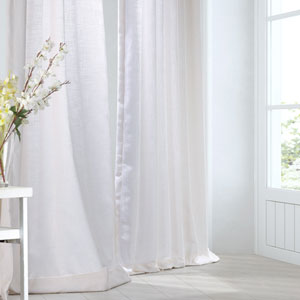 Rice White 96 x 50-Inch Curtain Single Panel