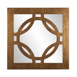 Felicity Gold Square Wall Mirror