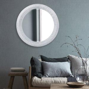 Grayson Blue Gray Round Wall Mirror