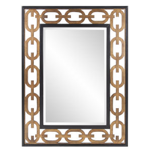 Linc Gold and Black Wall Mirror