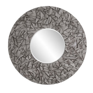 Pablo Gray Wash Round Wall Mirror