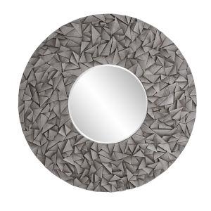 Pablo Gray Wash Round Wall Mirror