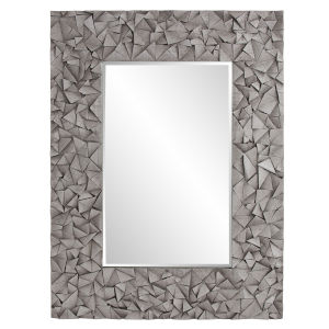 Pablo Gray Wash Rectangular Wall Mirror