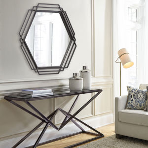 Raven Graphite Wall Mirror