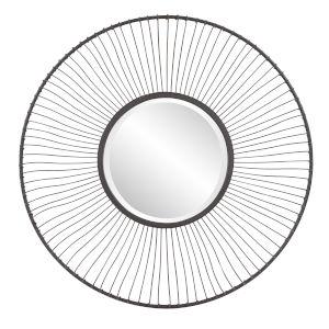 Othello Graphite Round Wall Mirror