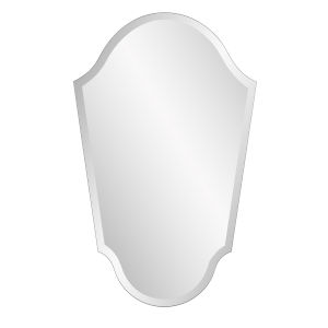 Mirrored Frameless Arched Vanity Mirror
